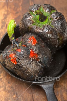 charcol scorched fresh bell peppers