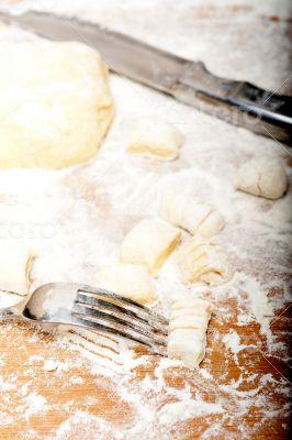 making fresh Italian potato gnocchi