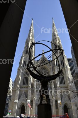 Atlas and St. Patrick framed