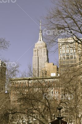 Empire State Building from the Madison Square Park