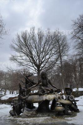Alice in a winter Central Park