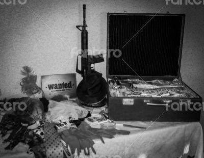 suitcase money and gun