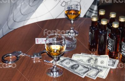 money and whiskey
