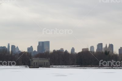 Jaqueline Kenedy Onassis Reservoir  and midtown