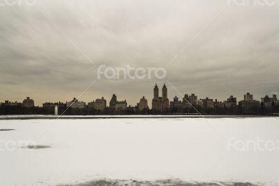 Jaqueline Kenedy Onassis Reservoir frozen