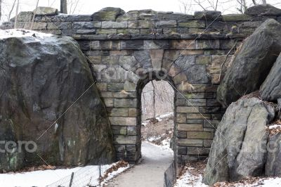 Path under Ramble Stone Arch