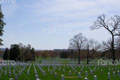 Blue sky over the Arlington Cemetery