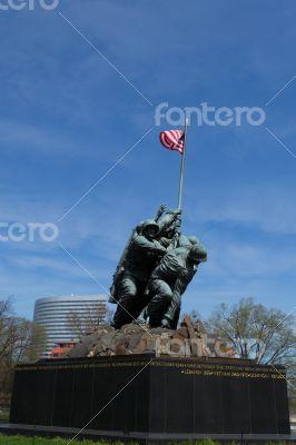 Marine Corps War Memorial in Washington