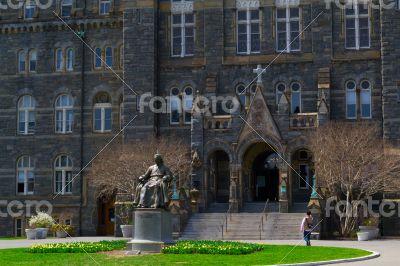 John Carrol in front of Georgetown University