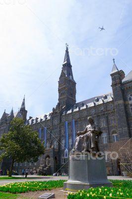 John Carroll statue by Georgetown University