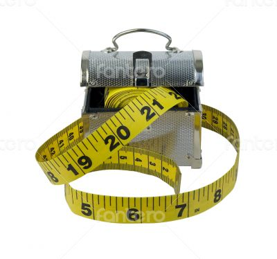 Measuring Tape with Metal Lunch Box