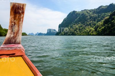 Travel by boat in Phang Nga Bay