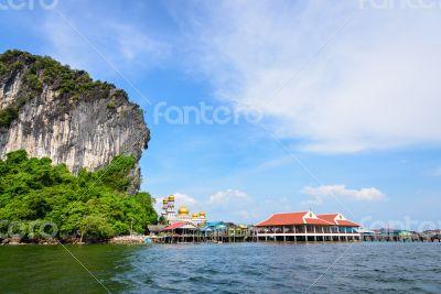 Koh Panyee or Punyi island in summer
