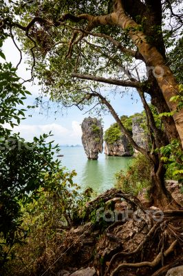 High angle view Khao Tapu island