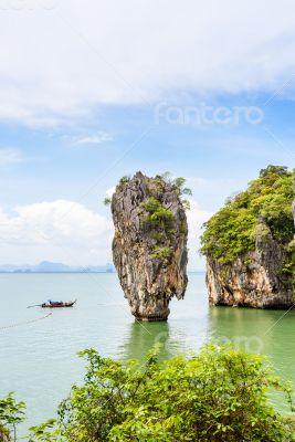 High angle view Khao Tapu island