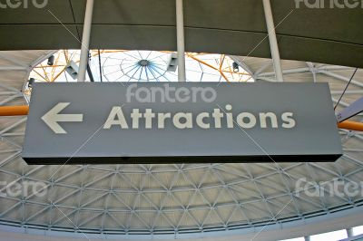 Attractions Sign