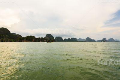 Natural landscape beautiful sea