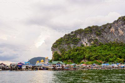 Koh Panyee or Punyi island village is floating
