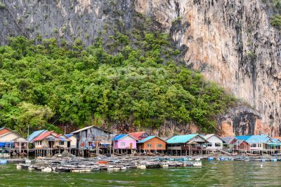 Koh Panyee or Punyi island village is floating