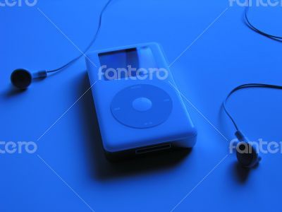 iPod MP3 Music Player and Ear Buds
