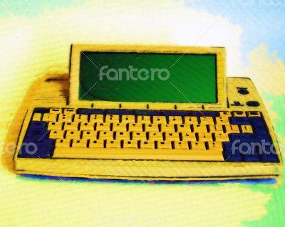 Close Up of Retro Portable Computer