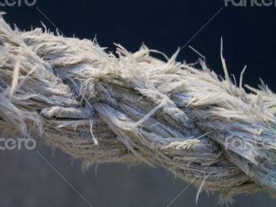 Close Up of Fraying Braided Rope