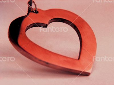 Close Up of Red Heart Shaped Charm