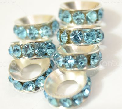 Light Blue Beads Spacer