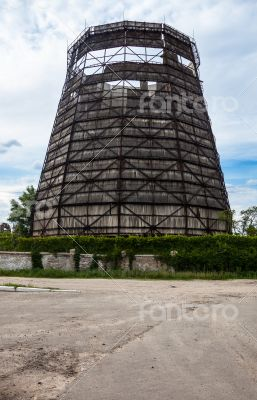 Old cooling tower of the cogeneration plant
