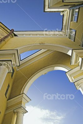 Intricate arched building