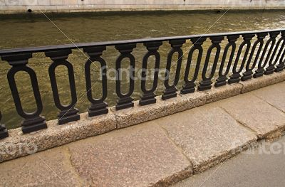 Iron Railings at Moika River Embankment