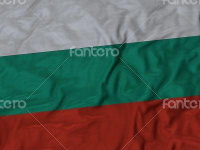Close up of Ruffled Bulgaria flag