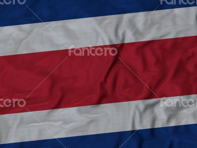 Close up of Ruffled Costa Rica flag