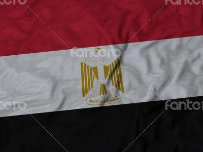 Close up of Ruffled Egypt flag
