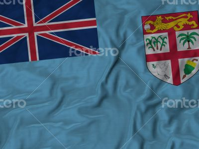 Close up of Ruffled Fiji flag