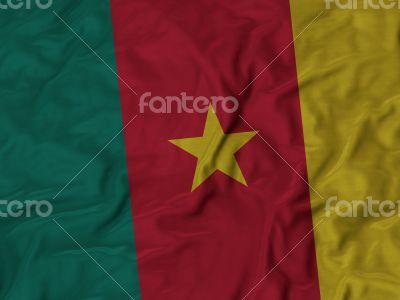 Close up of Ruffled Cameroon flag