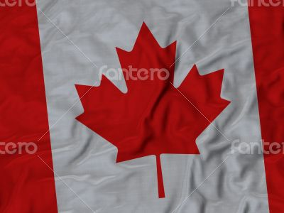 Close up of Ruffled Canada flag