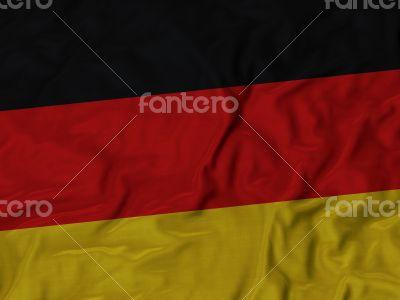 Close up of Ruffled Germany flag