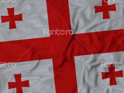 Close up of Ruffled Georgia flag