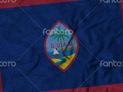 Close up of Ruffled Guam flag