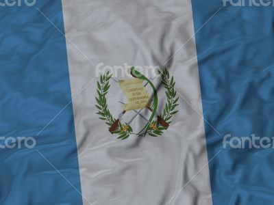 Close up of Ruffled Guatemala flag