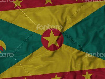 Close up of Ruffled Grenada flag