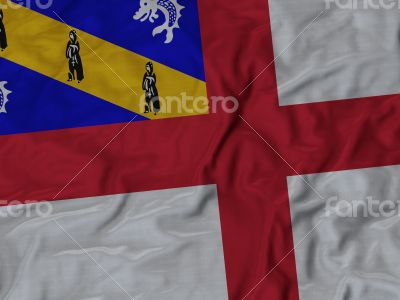 Close up of Ruffled Herm flag