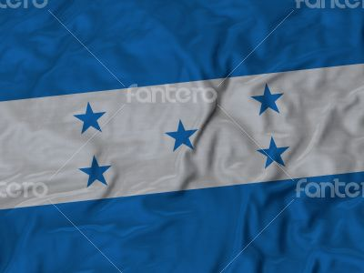 Close up of Ruffled Honduras flag