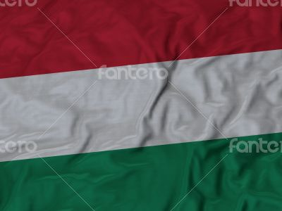 Close up of Ruffled Hungary flag