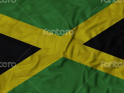 Close up of Ruffled Jamaica flag