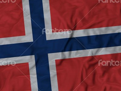 Close up of Ruffled Norway flag