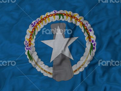 Close up of Ruffled Northern_Mariana_Islands flag