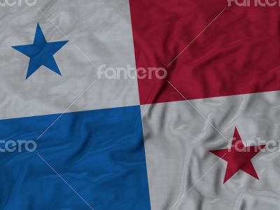 Close up of Ruffled Panama flag