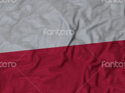 Close up of Ruffled Poland flag